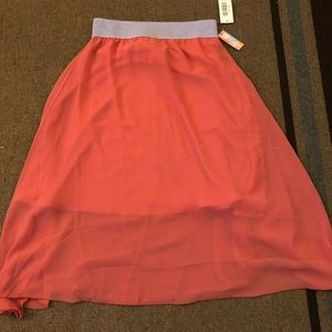 Orange/ coral Lola skirt Lularoe